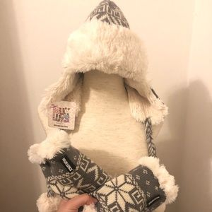 Sale! MUKLUKS 2 pc.Trapper Hat and Hand warmers